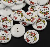10 st Hello Kitty knappar 25 mm