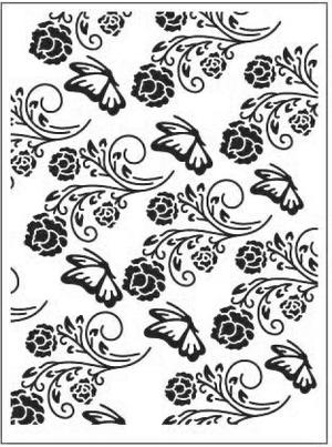 Embossing folder - butterflies and flowers - dixi craft