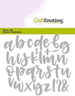 Craft Emotions alphabet handlettering lowercase