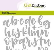 Craft Emotions alphabet handlettering lowercase