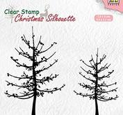 Nellie Snellen Christmas silhouette clearstamp - Leafless trees