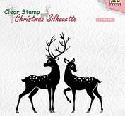 Nellie Snellen Christmas silhouette clearstamp Deer