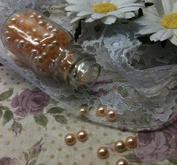 Ca 140st persikofärgade halvärlor 6 mm