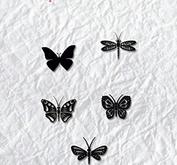 Nellie Snellen - Clearstamp - mini- butterflies