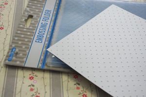 Embossing folder - Nellie Snellen - little dots