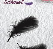 Nellie Snellen - Clearstamp - Silhouet - feathers