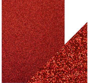 CE-Glitterpapper- Julrött