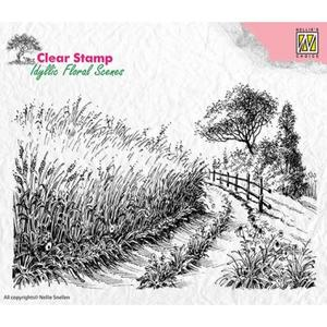 Nellie Snellen - Clear stamp - corn field