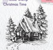 Nellie Snellen - Clear stamp - Snowy house