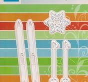 Marianne Design - Skidor, stavar och snöstjärna
