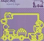 Nellie Snellen - Die - Shape die- Frame baby train