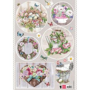 Marianne Design - Klippark- country style flowers