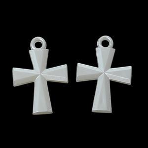 10 st kors - pärlemofärgad akryl