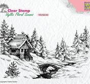 Nellie Snellen -CLEAR STAMP - IDYLLI FLORAL SCENES -  winter scene1