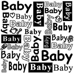 Embossing folder - Baby!