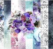 13@rts - Paper pack Aqua Flora