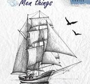 Nellie Snellen - Clear stamp - Sailing boat