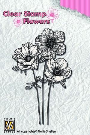 Nellie Snellen - Clearstamp - anemones