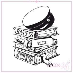 Grattis till studenten med böcker
