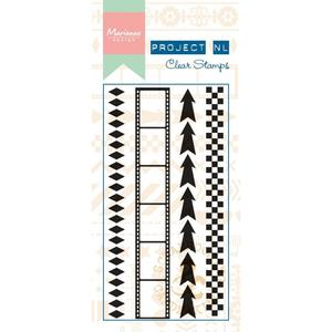 Marianne design - Clear stamp -Border arrows