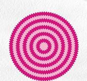"""Nellie Snellen - Multiframe - round waves"""" 129x129mm"""