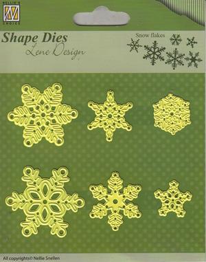 Nellie Snellen - Shape die by Lene - Snowflakes