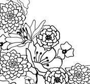 Nellie Snellen - Embossing folder - Flower corner 1