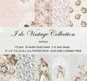 Reprint paper- I do - vintage collection 15 x 15 cm