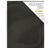 Craft Perfect - Foiled kraft card- Golden Polkadot
