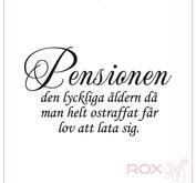 Pensionen...