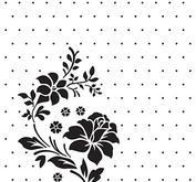 Embossing folder - Vintasia - Rose Ornament