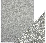 Craft Perfect -  Glitter card -Silver Screen