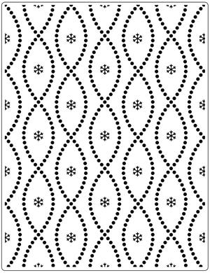 Embossing folder - Crafts too - Seamless Circle