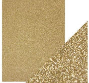 Craft Perfect -  Glitter card -Gold Dust