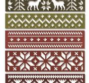 Sizzix Thinlits Die set - Snowfall & Holiday Knit