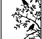 Nellie Snellen - Embossing folder - birds on branch