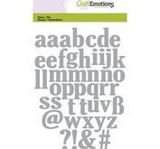 Craft Emotions Lowercase  Alphabet, ca 2,2 cm höga