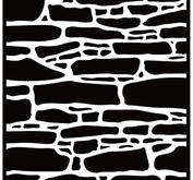 Embossing folder - Nellie Snellen - stone wall""