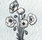 Nellie Snellen - Clearstamp - poppies