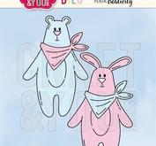 Craft & You -  Teddybjörn och kanin