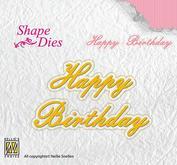 Nellie  Snellen - Shape Dies - Happy Birthday