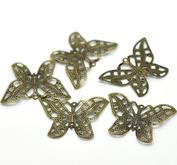 10 st fjärilar i tunn metall