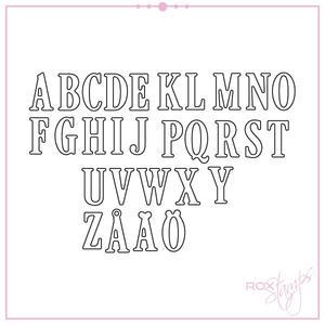 Rox Stamps die - Alfabete