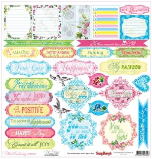 Scrapberrys - Floral Embroidery - Fancy cloth