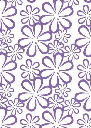 Couture Creations - Embossing folder - Retro Flower