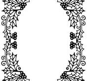 Nellie - Snellen - Embossing folder - Holly oval frame