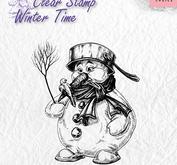 Nellie Snellen - clearstamp - Winter time - Snowman
