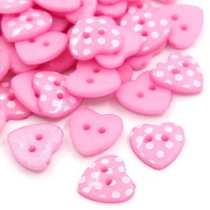 10 st prickiga rosa hjärtan - knappar