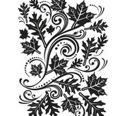 Darice- Embossingfolder - Fall leaves swirl
