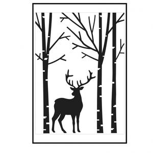 Darice- Embossingfolder - Deer in forest